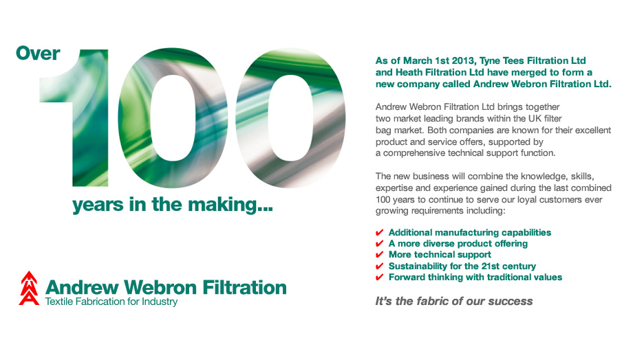 Over 100 years in the making... Andrew Webron Filtration
